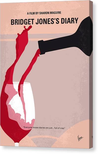 Weights Canvas Print - No563 My Bridget Jones Diary Minimal Movie Poster by Chungkong Art
