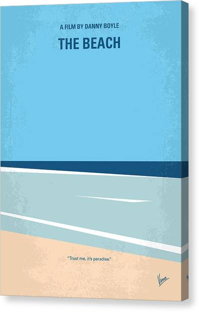 Video Games Canvas Print - No569 My The Beach Minimal Movie Poster by Chungkong Art