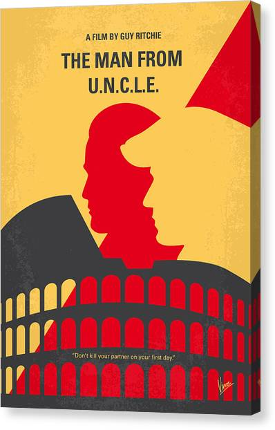 Mission Canvas Print - No572 My Man From Uncle Minimal Movie Poster by Chungkong Art