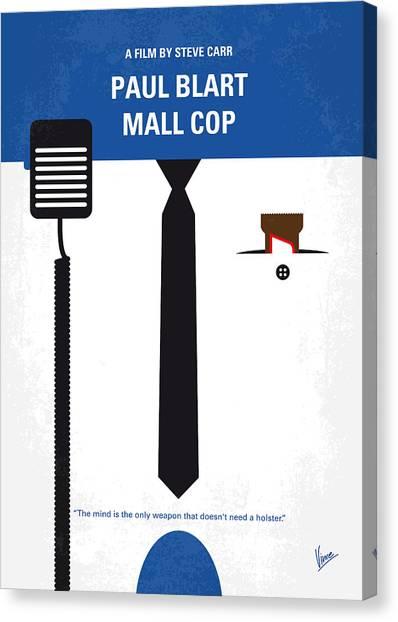New Jersey Canvas Print - No579 My Paul Blart Mall Cop Minimal Movie Poster by Chungkong Art