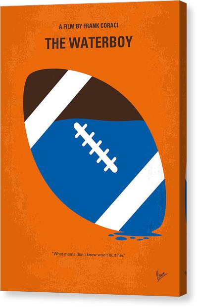 Football Canvas Print - No580 My The Waterboy Minimal Movie Poster by Chungkong Art