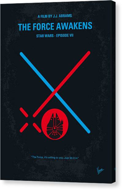 Droid Canvas Print - No591 My Star Wars Episode Vii The Force Awakens Minimal Movie Poster by Chungkong Art