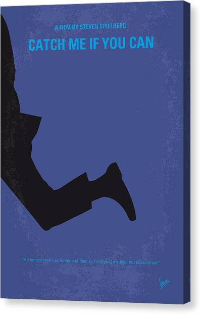 Law Enforcement Canvas Print - No592 My Catch Me If You Can Minimal Movie Poster by Chungkong Art