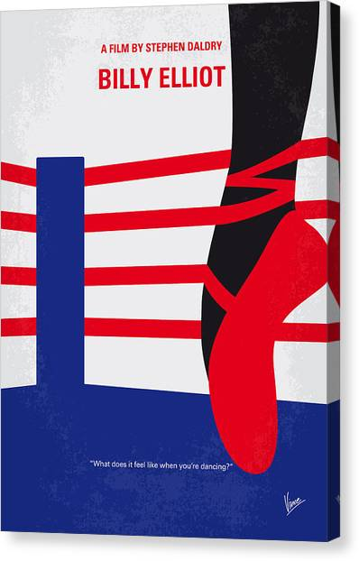 Boxing Canvas Print - No597 My Billy Elliot Minimal Movie Poster by Chungkong Art