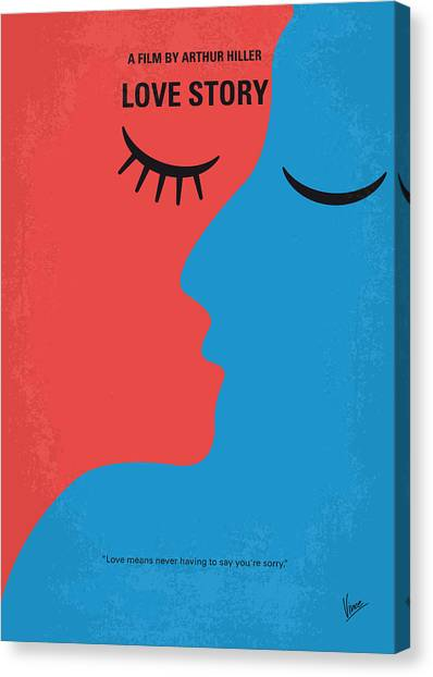 Harvard University Canvas Print - No600 My Love Story Minimal Movie Poster by Chungkong Art
