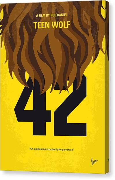 Basketball Teams Canvas Print - No607 My Teen Wolf Minimal Movie Poster by Chungkong Art