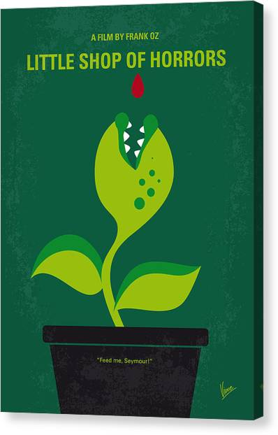 Dentists Canvas Print - No611 My Little Shop Of Horrors Minimal Movie Poster by Chungkong Art