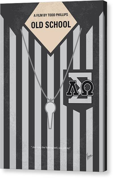 Fraternity Canvas Print - No614 My Old School Minimal Movie Poster by Chungkong Art