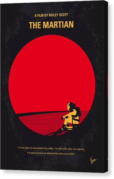 Mission Canvas Print - No620 My The Martian Minimal Movie Poster by Chungkong Art