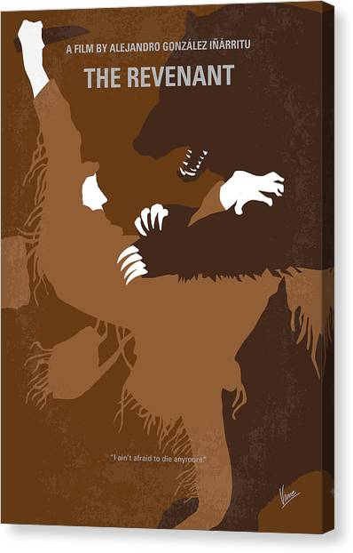 Survival Canvas Print - No623 My The Revenant Minimal Movie Poster by Chungkong Art