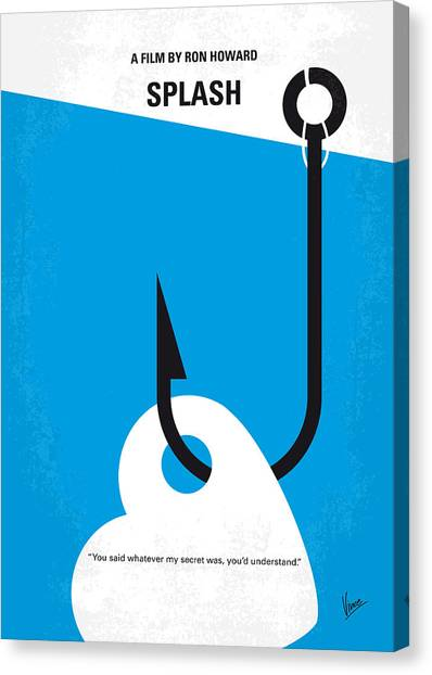 Mythological Creatures Canvas Print - No625 My Splash Minimal Movie Poster by Chungkong Art