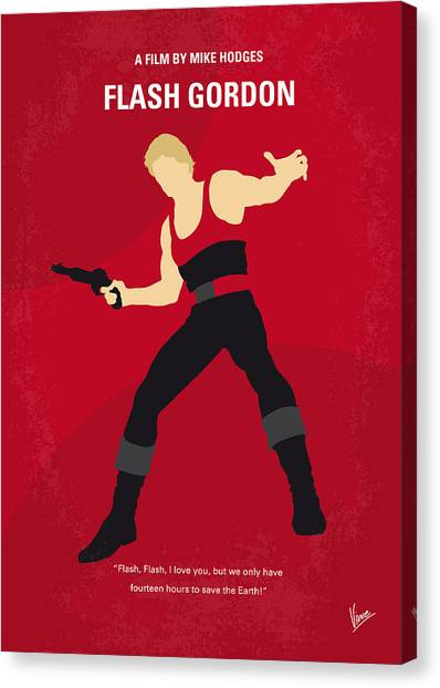 Flash Canvas Print - No632 My Flash Gordon Minimal Movie Poster by Chungkong Art