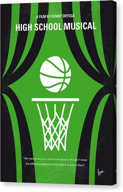 Basketball Canvas Print - No633 My High School Musical Minimal Movie Poster by Chungkong Art