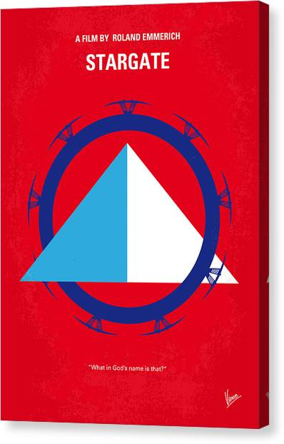 Egyptian Canvas Print - No644 My Stargate Minimal Movie Poster by Chungkong Art