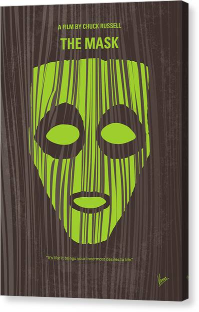 Jim Carrey Canvas Print - No647 My The Mask Minimal Movie Poster by Chungkong Art