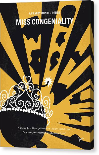 Law Enforcement Canvas Print - No652 My Miss Congeniality Minimal Movie Poster by Chungkong Art