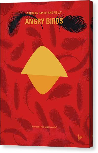 Bombs Canvas Print - No658 My Angry Birds Movie Minimal Movie Poster by Chungkong Art