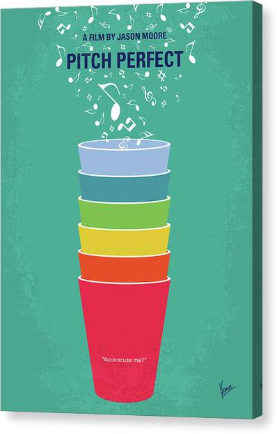 Singing Canvas Print - No660 My Pitch Perfect Minimal Movie Poster by Chungkong Art