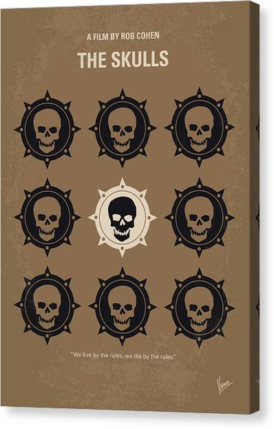 Skull Canvas Print - No662 My The Skulls Minimal Movie Poster by Chungkong Art