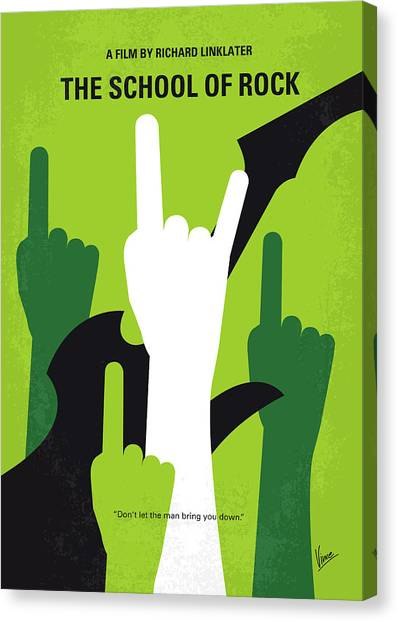 Teachers Canvas Print - No668 My The School Of Rock Minimal Movie Poster by Chungkong Art