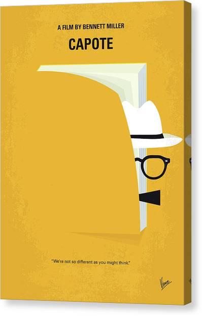 Social Canvas Print - No671 My Capote Minimal Movie Poster by Chungkong Art