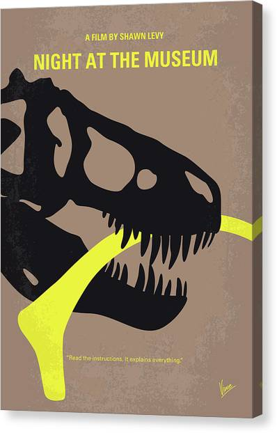 Museums Canvas Print - No672 My Night At The Museum Minimal Movie Poster by Chungkong Art