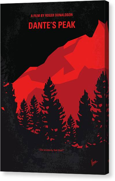 Lava Canvas Print - No682 My Dantes Peak Minimal Movie Poster by Chungkong Art