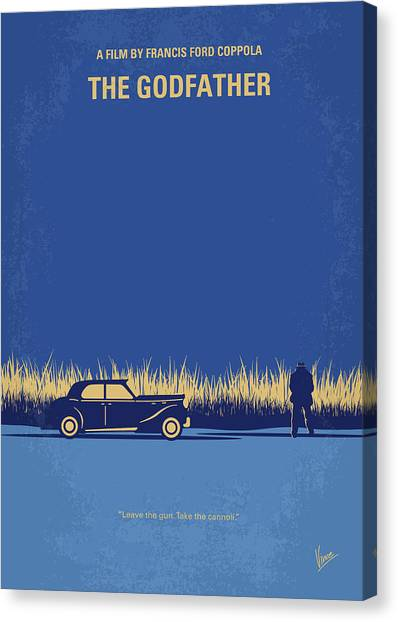 Cans Canvas Print - No686-1 My Godfather I Minimal Movie Poster by Chungkong Art