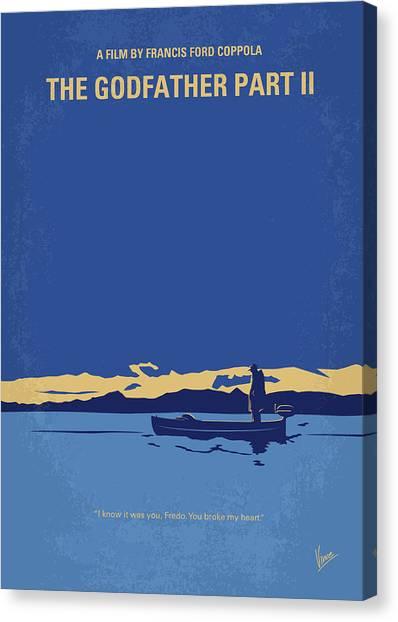 Nevada Canvas Print - No686-2 My Godfather II Minimal Movie Poster by Chungkong Art