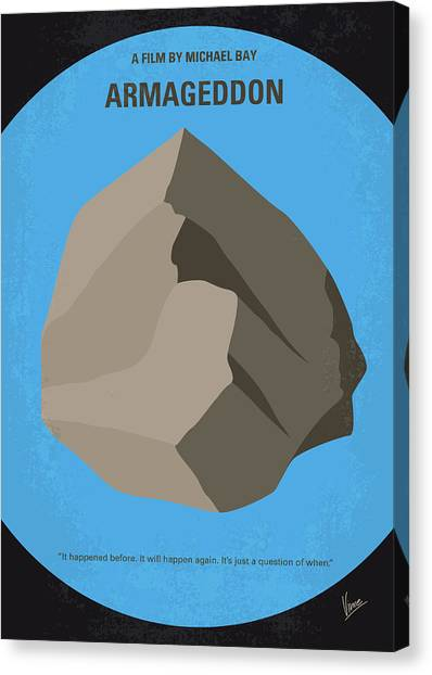 Warheads Canvas Print - No695 My Armageddon Minimal Movie Poster by Chungkong Art