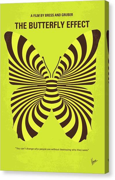 Hurricanes Canvas Print - No697 My The Butterfly Effect Minimal Movie Poster by Chungkong Art