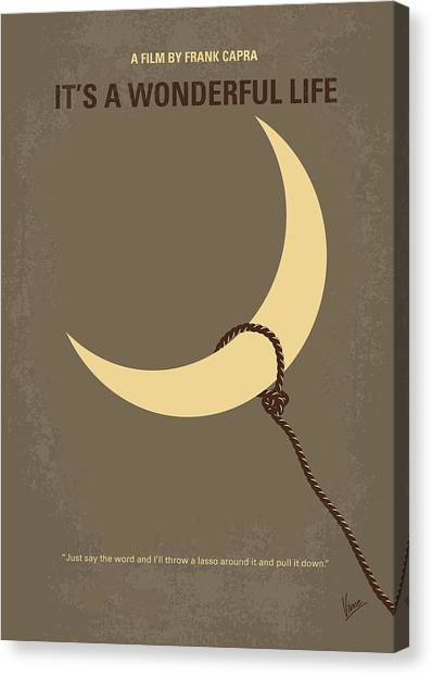 Moon Canvas Print - No700 My Its A Wonderful Life Minimal Movie Poster by Chungkong Art
