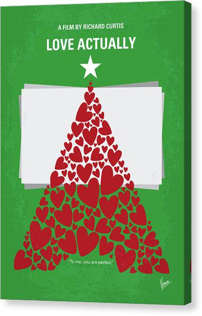 Prime Canvas Print - No701 My Love Actually Minimal Movie Poster by Chungkong Art