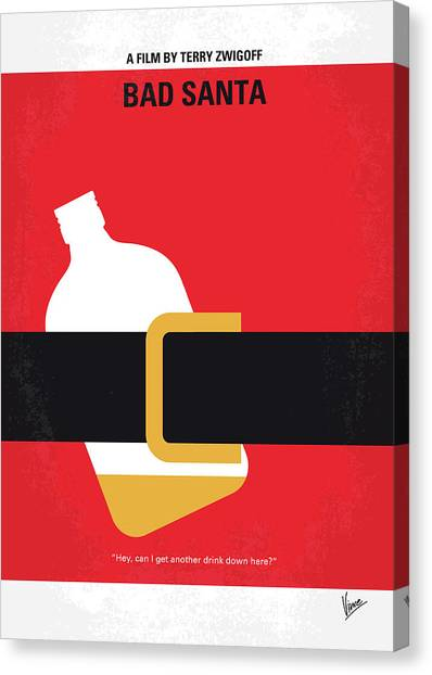 Colleges And Universities Canvas Print - No702 My Bad Santa Minimal Movie Poster by Chungkong Art