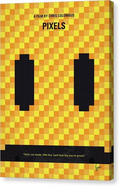 Aliens Canvas Print - No703 My Pixels Minimal Movie Poster by Chungkong Art