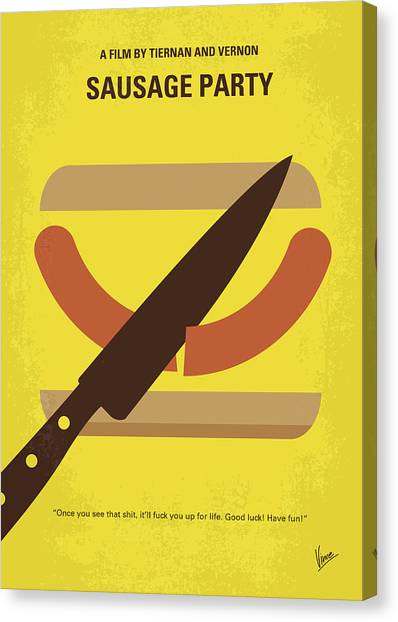 James Franco Canvas Print - No704 My Sausage Party Minimal Movie Poster by Chungkong Art