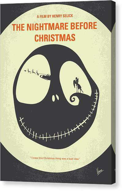 Pumpkins Canvas Print - No712 My The Nightmare Before Christmas Minimal Movie Poster by Chungkong Art