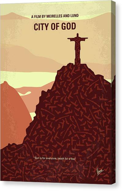 God Canvas Print - No716 My City Of God Minimal Movie Poster by Chungkong Art