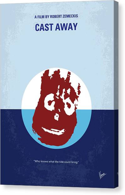 Survival Canvas Print - No718 My Cast Away Minimal Movie Poster by Chungkong Art
