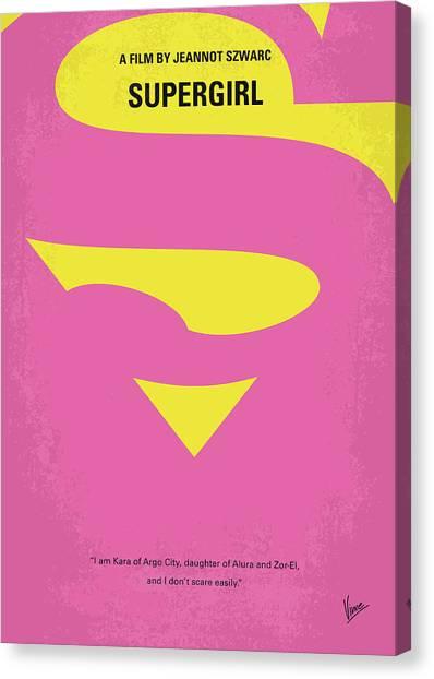 Earth Canvas Print - No720 My Supergirl Minimal Movie Poster by Chungkong Art