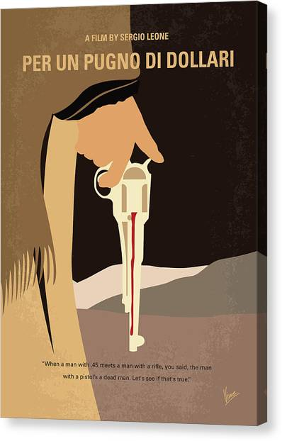 Money Canvas Print - No721 My A Fistful Of Dollars Minimal Movie Poster by Chungkong Art