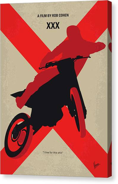 Nsa Canvas Print - No728 My Xxx Minimal Movie Poster by Chungkong Art