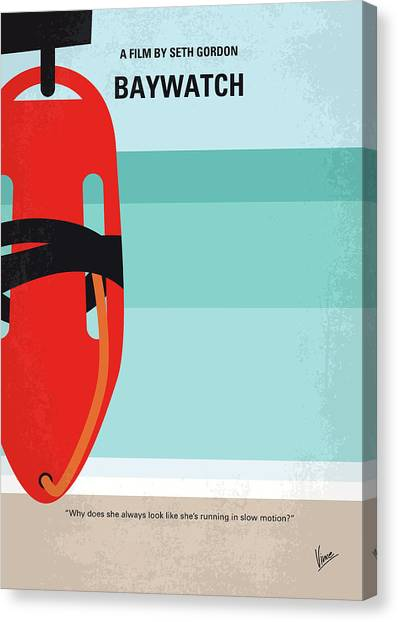Lifeguard Canvas Print - No730 My Baywatch Minimal Movie Poster by Chungkong Art