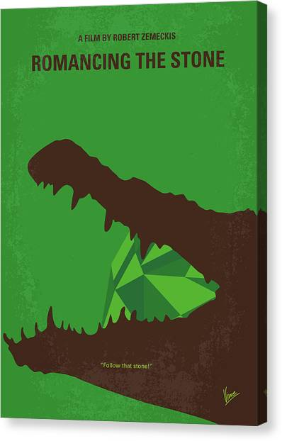 Colombian Canvas Print - No732 My Romancing The Stone Minimal Movie Poster by Chungkong Art