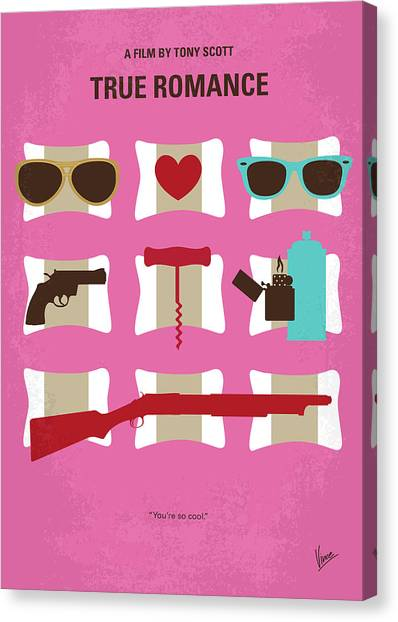 Dennis Hopper Canvas Print - No736 My True Romance Minimal Movie Poster by Chungkong Art