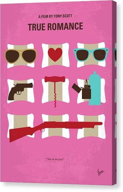 Alabama Canvas Print - No736 My True Romance Minimal Movie Poster by Chungkong Art