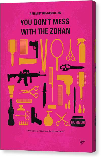 Muslim Canvas Print - No743 My You Dont Mess With The Zohan Minimal Movie Poster by Chungkong Art