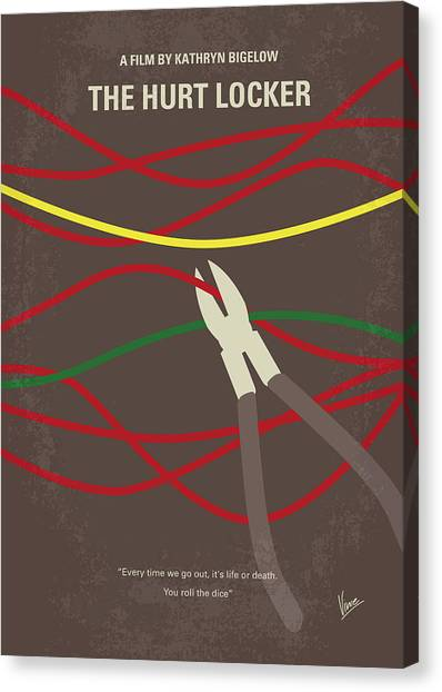Bombs Canvas Print - No746 My The Hurt Locker Minimal Movie Poster by Chungkong Art