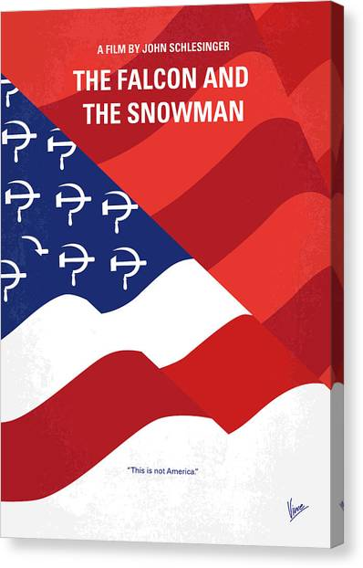 Cia Canvas Print - No749 My The Falcon And The Snowman Minimal Movie Poster by Chungkong Art