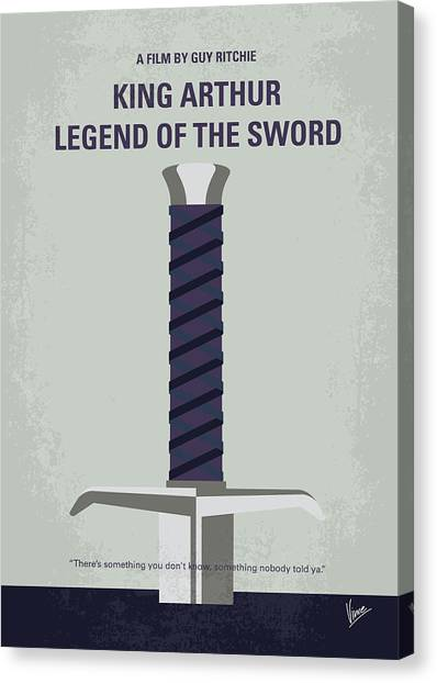 The Crown Canvas Print - No751 My King Arthur Legend Of The Sword Minimal Movie Poster by Chungkong Art